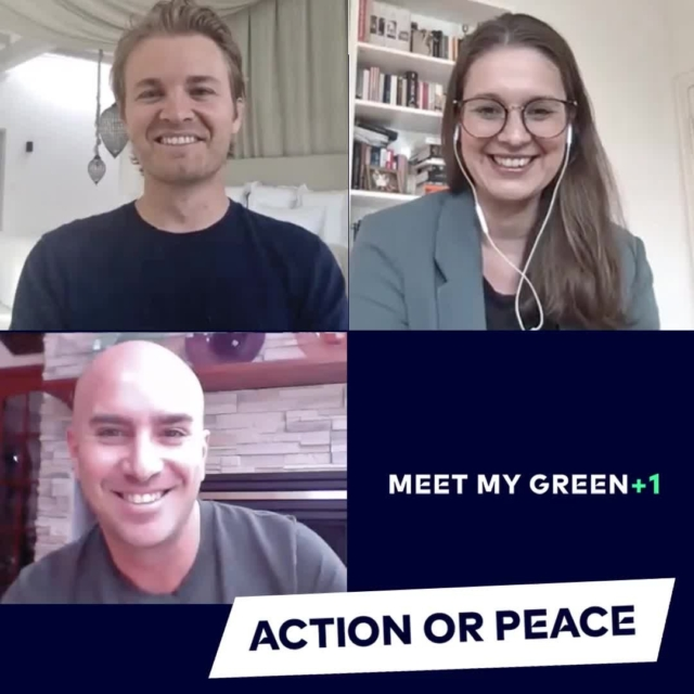 ACTION or PEACE?.It's no surprise that for co-founder @nicorosberg it's all about action! Do you agree with Nico and his green +1 @stephanouaknine that action is the best way to bring about peace?  Let us know what you think!.Watch the full episode via the link in our bio 🎥🙌🏼.#MeetMyGreen+1 #celebratechange #greentechfestival #action #peace #nicorosberg #stephanouaknine